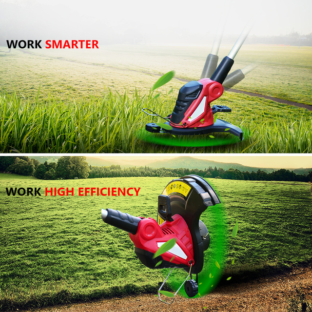 PRACMANU 220V 잔디 깎는 기계 전기 잔디 트리머 잔디 문자열 트리머 가지 치기 커터 정원 도구