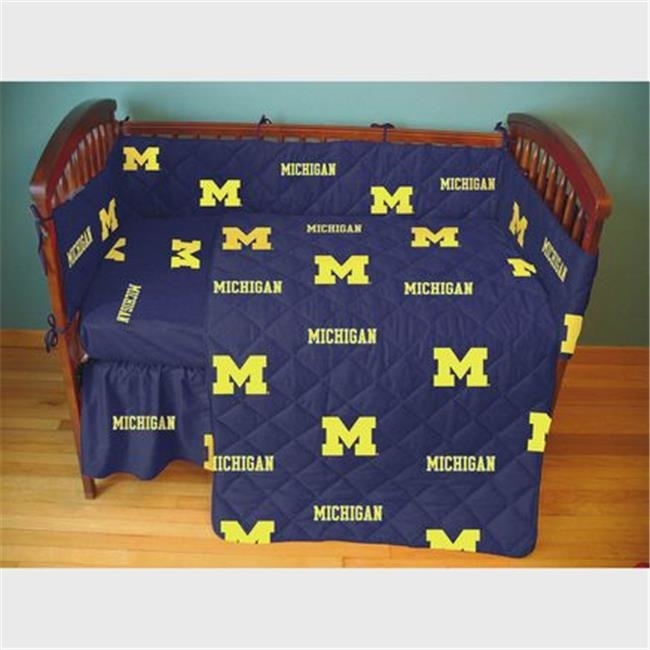 College Covers MICCSFSPR Michigan Wolverines Baby Crib Fitted Sheet Pair striped fitted sheet