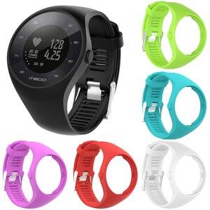 Image 3 - Nützliche Premium Silikon Weiche Band Uhr Handgelenk Gurt Für Polar M200 GPS Uhr Ersatz
