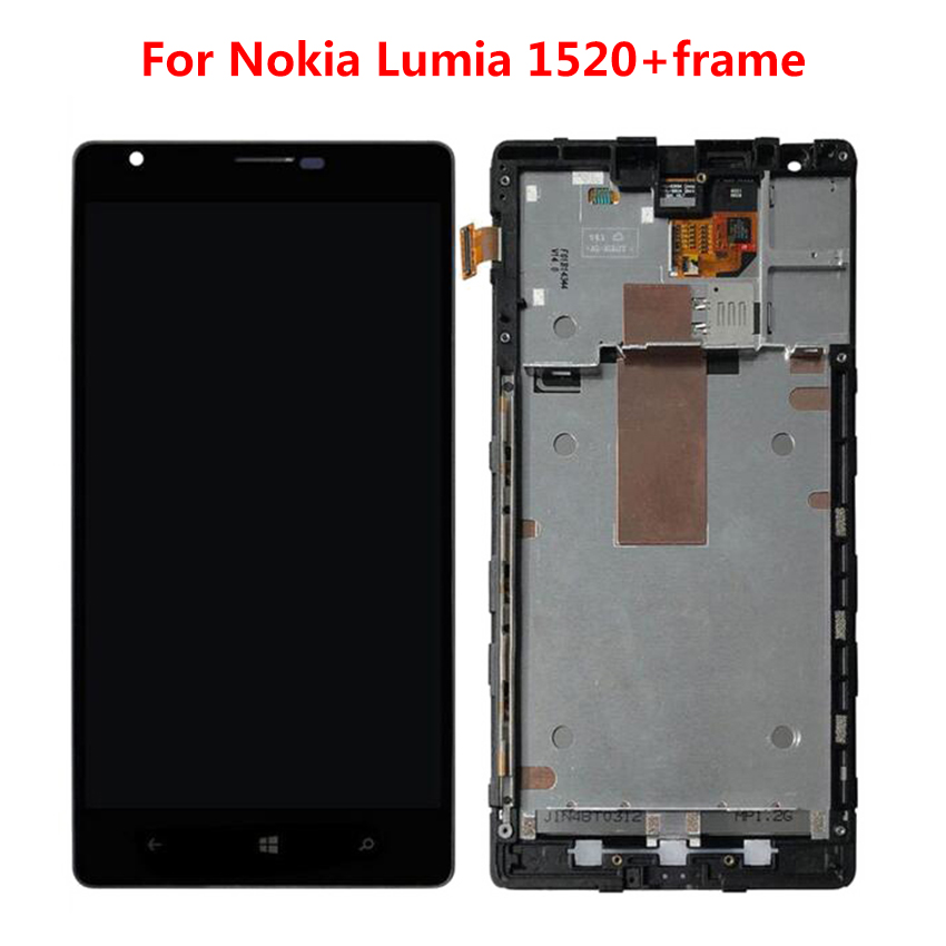 LCD For Nokia Lumia 1520 LCD Display with Touch Screen Digitizer Assembly with Frame Free ShippingLCD For Nokia Lumia 1520 LCD Display with Touch Screen Digitizer Assembly with Frame Free Shipping