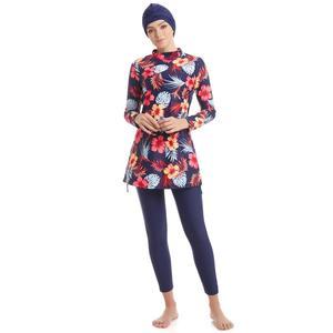 Image 2 - YONGSEN размера плюс Мусульманский купальник Burkinis женский купальник хиджаб с длинными рукавами скромный стиль мусульманская одежда для плавания