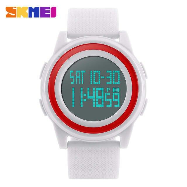 ec78e020d38 SKMEI Homens Mulheres Digital LED relógios de Pulso Relogio masculino  feminino À Prova D  Água