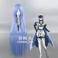 Japanese Anime Akame ga KILL Esdeath cosplay wig women Esdeath long blue straight hair wig costumes