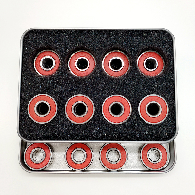 Free Shipping Roller Skate Bearing Ghost Pupil ABEC-7 608z 22x8x7 Mm Red Cover 16 Pieces Per Box Unit Price For One Bearing