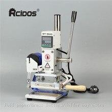 10x13cm WT 90DS + T typ mosiężne litery RCIDOS maszyna stemplująca, skóra brązujący, maszyna stemplująca gorącą folią maszyna stemplująca, 110V/220V, stół liniowy