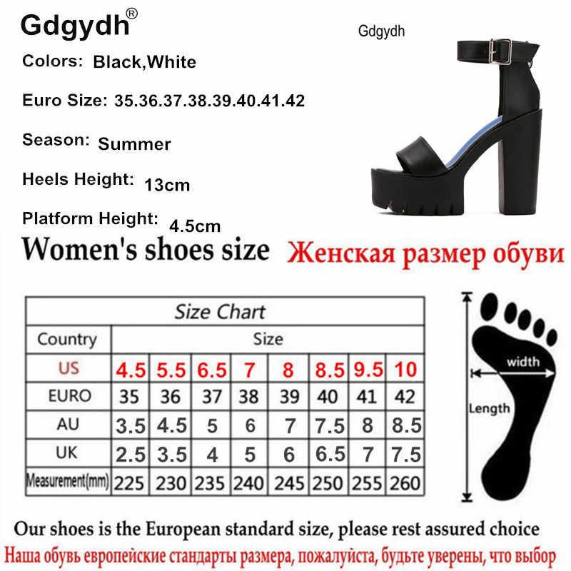 Gdgydh Drop Verzending Witte Zomer Sandaal Schoenen Voor Vrouwen 2020 Nieuwe Collectie Hoge Dikke Hakken Sandalen Platform Casual Russische Schoenen