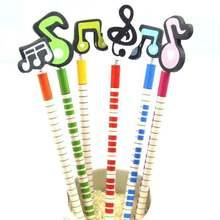 96 шт/лот kawaii музыкальные нотки деревянные карандаши для