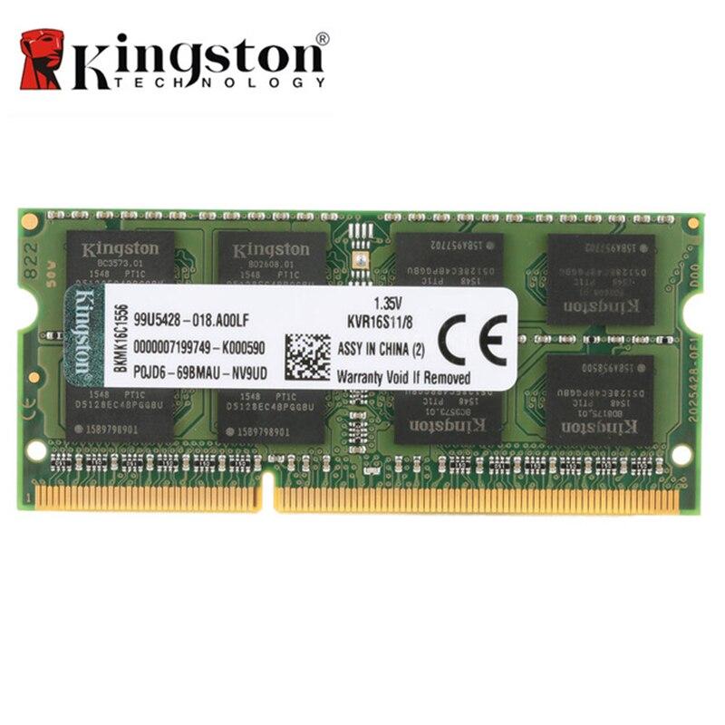 Kingston RAM Original KVR Notebook RAM 1600MHz 4GB 8GB DDR3 RAM 204 Pin Ram SODIMM Motherboard Intel Memory Stick Ram For Laptop