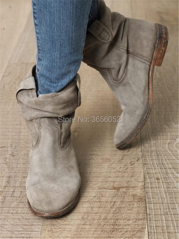 Attantou-Women-Ankle-Boots-Suede-Autumn-Shoes-Flat-Nubuck-Leather-Retro-Distressed-Biker-Boots-Women-Motorcycle
