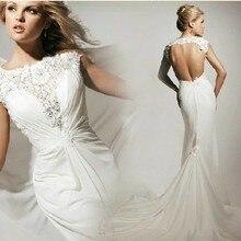 43c5f8e52 Envío Gratis vestido de novia 2018 traje de mariee blanco sexy sin respaldo  Chiffon Prom Quinceanera vestido de novia vestidos d.