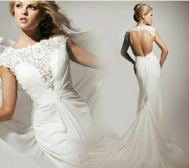free shipping vestido de noiva 2018 robe de mariee White sexy Backless Chiffon Prom Quinceanera bridal Gown   bridesmaid     dresses