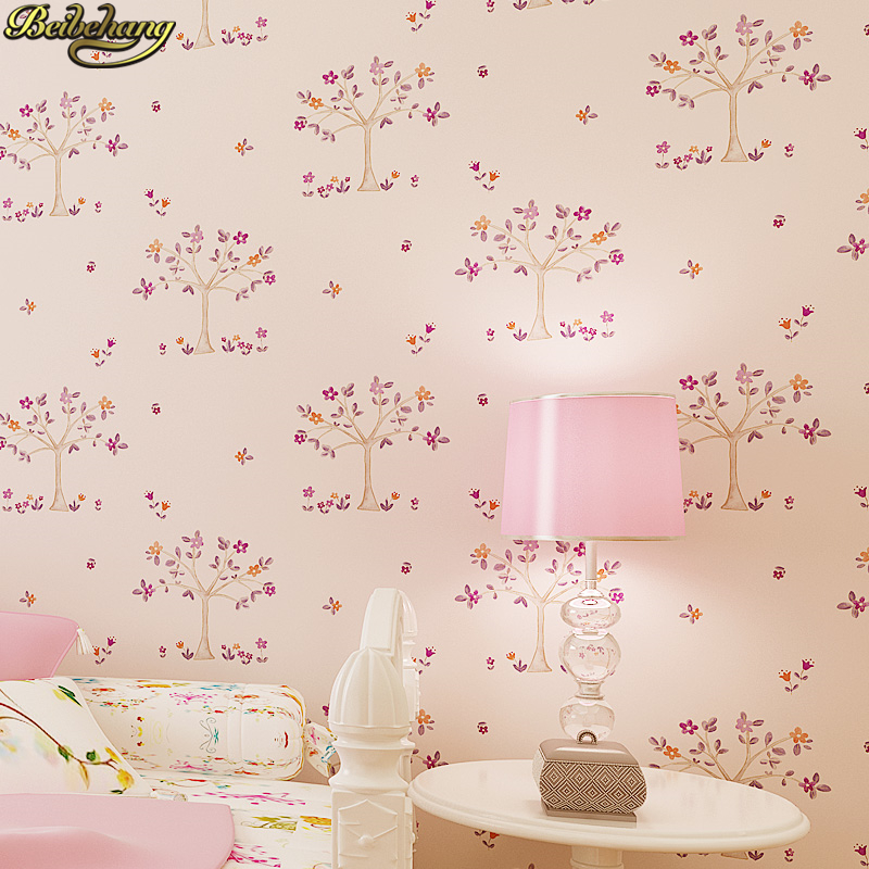 beibehang papel de parede 3D Cartoon small tree children room wallpaper for walls 3 d wall papers home decor photo wall mural beibehang custom marble pattern parquet papel de parede 3d photo mural wallpaper for walls 3 d living room bathroom wall paper