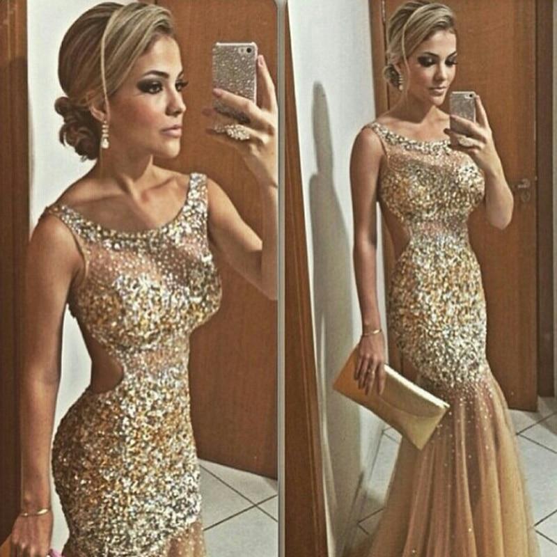 Vestidos De Noche Dorados 2016