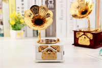 2016 Hot 1 Pcs Lot Music Box Phonograph Plastic Retro Crafts Kids Toys Birthday Christmas Gift
