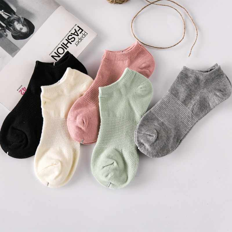 f98c1523e8 Lady Wigwam Socks in grid 5 pairs Massage Feet Cute Pure Color Low Cut  Invisible Traces