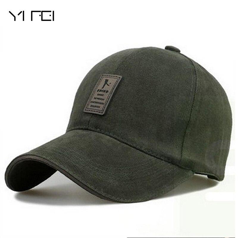 YIFEI AUTUMN Golf Logo Cotton Baseball Cap Sports Golf Snapback Outdoor Simple Solid Hats For Men Bone Gorras Casquette Chapeu