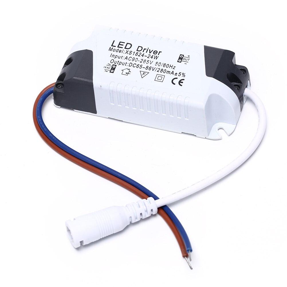 1 pces led transformador de luz adaptador de alimentação para lâmpada led/bulbo 1-3 w 4-7 w 8-12 w 13-18 w 18-24 w seguro plástico escudo led driver