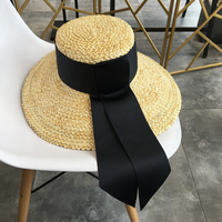 2018 New Women Sun Hats Wheat Straw Superlarge Brim Dome Bucket Hats Summer Sunproof Caps Beach Casual Travel Female Elegant