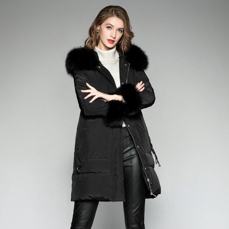 Long   Coat     Down     Coat   Winter for Women White Duck   Down   Jacket Doudoune Femme Hiver