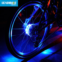 2pcs Cycling Lights Waterproof MTB Road Bike Front Rear Spoke Wheel Decoration Lamp New Design Safety