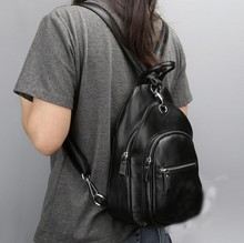 100% гарантия из натуральной кожи женщин рюкзак многофункциональный Грудь сумка маленькая Повседневная Женская дорожные сумки