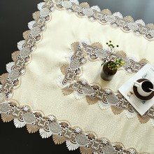 European Simple Modern Lace Jacquard Tablecloth Coffee Table Cloth Multi-purpose Tapete Christmas Wedding Party Decoration