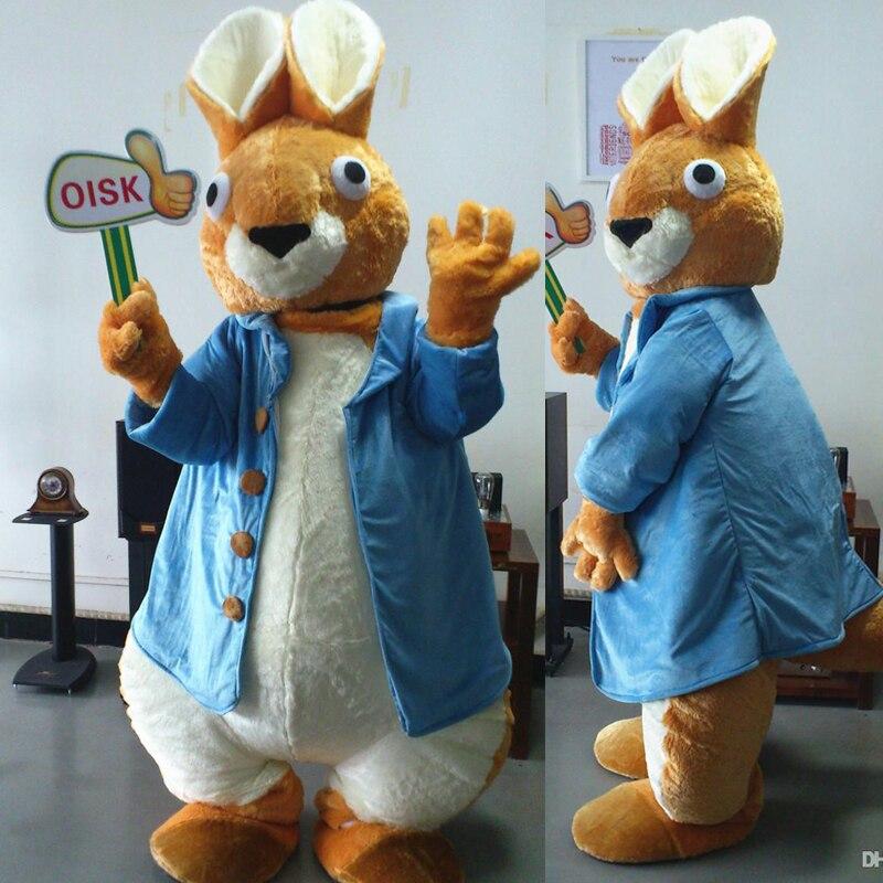 Ohlees vraies photos Peter lapin mascotte Costumes personnage en peluche poupée taille adulte fantaisie tenue de pâques Halloween fête fournitures
