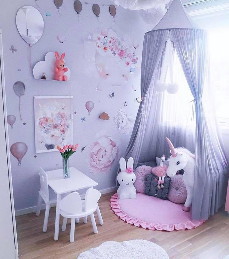 Ins Infant Toddlers Baby Play Mat Cotton Soft Round Children's Crawling Mat Baby Seat Cushion Multi Color Floor Carpet