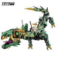 YNYNOO 06051 592pcs Movie Series Flying Mecha Dragon Building Blocks Bricks Baby Toys Children Gift Model