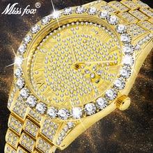 MISSFOX Men's Watch 2019 Top Selling Luxury Brand Gold Men F