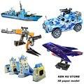 Оптовая цена детские игрушки 3D головоломки АК 47 корабль, самолет, автомобиль бумажная модель строительство комплект игрушки подарок для детей девочек