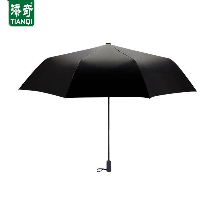 Vert haute qualité Anti-UV noir revêtement magique parapluie créatif nouveauté forêt marche trois pliant ensoleillé pluvieux parapluie Z598 - 2