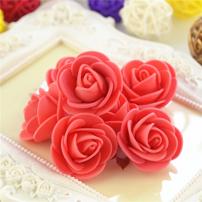 50pcs/Bag Multicolor Mini Rose Head Artificial Flowers For Wedding And Festival Party 18