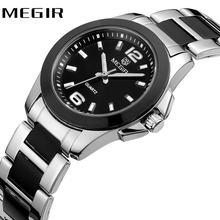 MEGIR Fashion Elegant Women Quartz Wrist Watches Top Brand Luxury Stainless Steel Watchband 2019 Waterproof Watches for Lover(China)