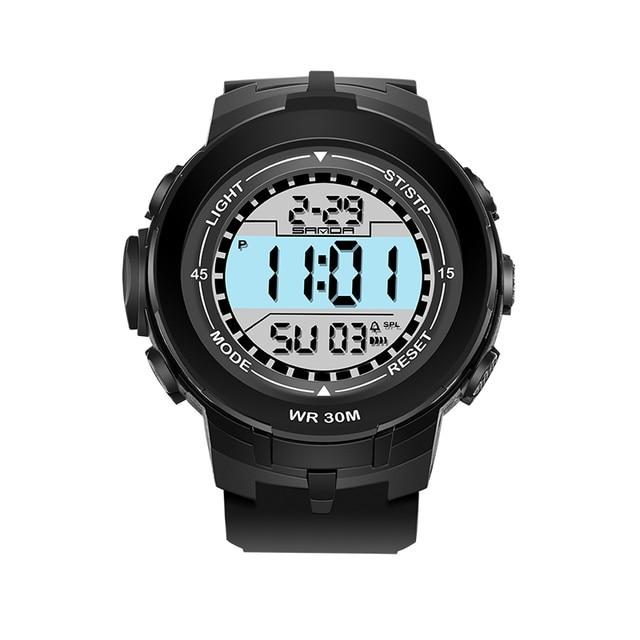 Luxury Brand Fashion LED Digital Watch Sport Military Wristwatches SANDA Watch Men Analog Quartz Male Watches Relogio Masculino