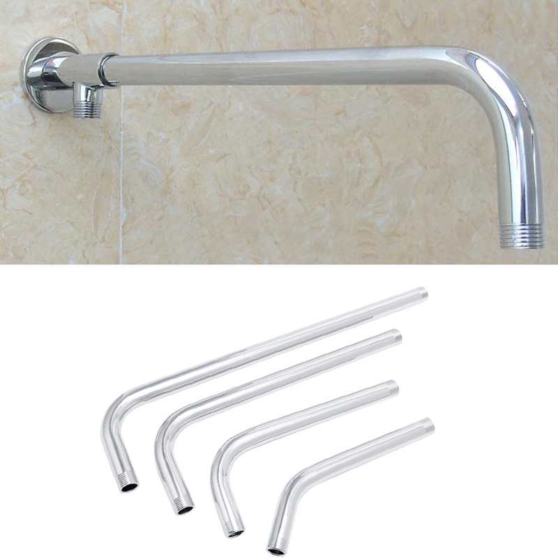 Shower Head Arm Bracket Thread G1/2 Stainless Steel Wall Mounted Tube Rainfall Shower Head Arm Bracket