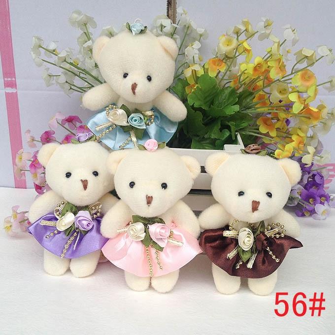 Cute Baby Teddy Bear Flower Bouquets Dress Bear Mini