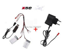 YUKALA X5C X5 X5SC X5SW CX-30 Quadcopter RC helicopter 3.7V 600mAh Lipo Battery + wall charger free shipping
