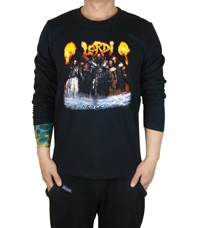 2 вида Летний стиль Lordi Finland рок группа для мужчин и женщин рубашка панк смерти тяжелый черный металл ММА фитнес скейтборд 3D маска с принтом - Цвет: Черный