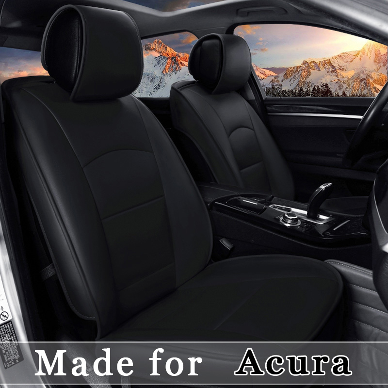 customize leather car seat cover for acura ilx tlx rlx rdx mdx nsx cdx zdx 5 seat cushion 4. Black Bedroom Furniture Sets. Home Design Ideas