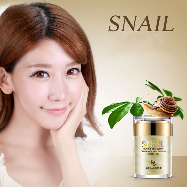 Snail Face Cream Collagen Essence Facial Skin Care Moisturizing Anti Aging Anti Wrinkles Whitening Day and Night Creams 60G 1