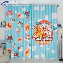 Senisaihon 3D Blackout Curtains Cartoon Red Bean Bread Superman Pattern  Thickened Children Bedroom Curtains For Living