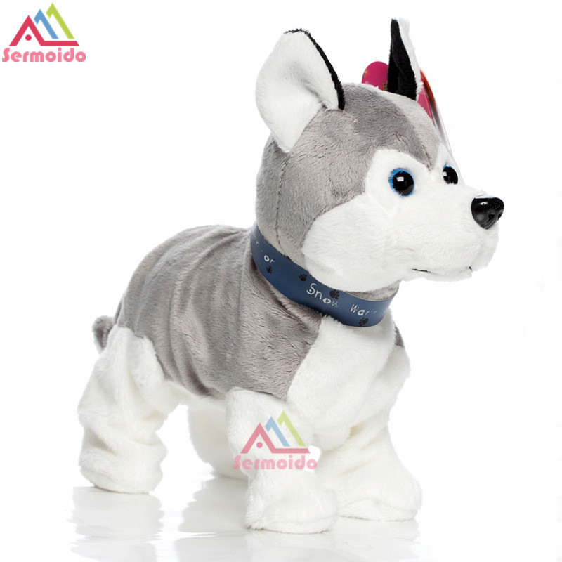 Electronic Pets Sound Control Robot Dogs Bark Stand Walk Cute Interactive Dog Electronic Husky Poodle Pekingese  Kids Toys B234