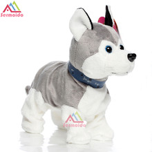 Electronic Pets Sound Control Robot Dogs Bark Stand Walk Cute Interactive Dog Electronic Husky Poodle Pekingese  Kids Toys B234