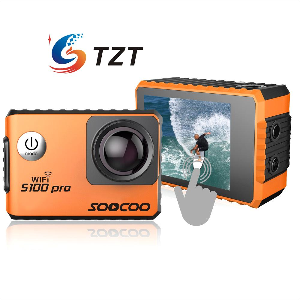 S100 Wifi 4K Sports font b Camera b font Built in Gyro with GPS Extension GPS