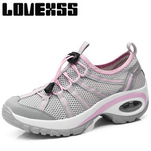LOVEXSS Breathable Mesh Dancing Shoes For Women Outdoor Jogging Running Shoes Woman Brand High Elastic Women's Sneakers