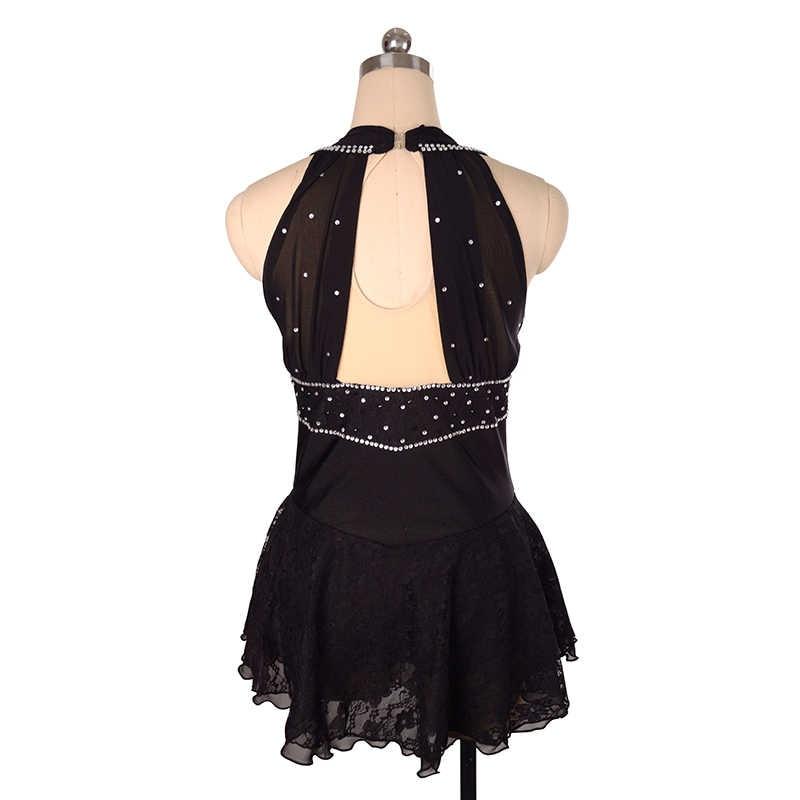 Nasinaya платье для фигурного катания, юбки для конькобежцев для девочек, для женщин, для детей, для соревнований по индивидуальному заказу, Patinaje, черные