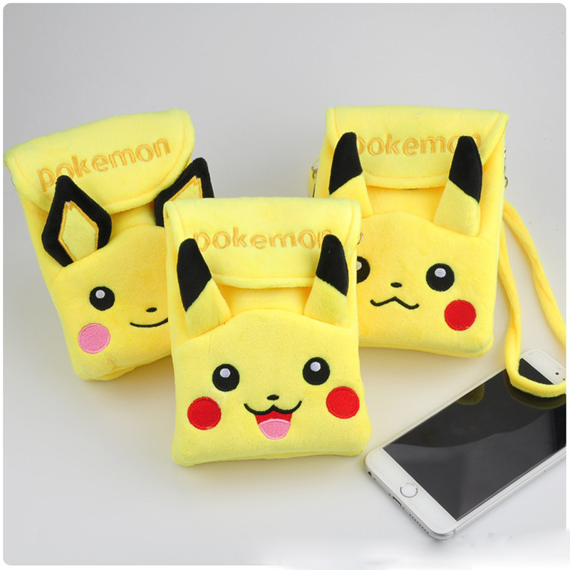 Coin Purses & Holders Intelligent Anime/cartoon Pikachu Pikachu Cell Phone Plush Pouch/mini Crossbody/shoulder Flap Bag/coin Purse Luggage & Bags