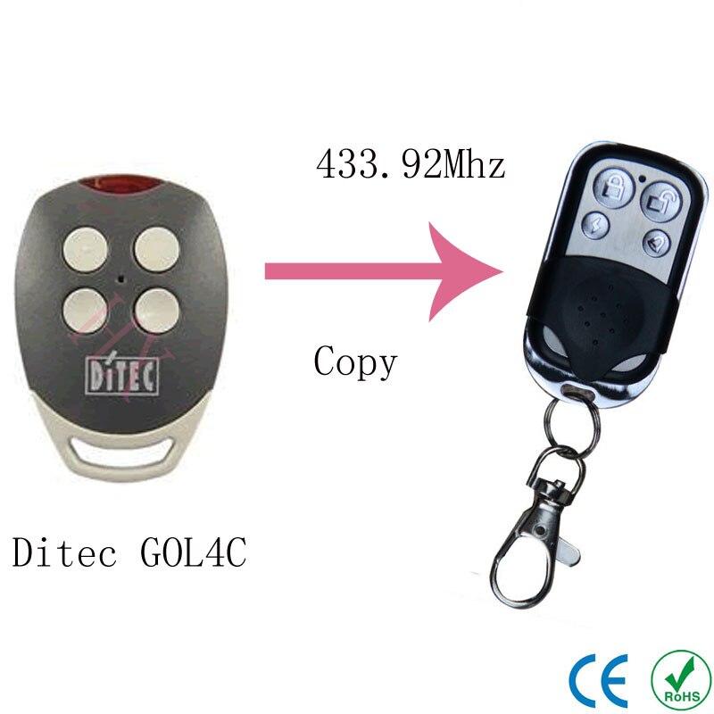 Copy Ditec GOL4C 433.92MHz remote control for garage door Universal remote control  Ditec GOL4C lacywear шапка gu 204 gol