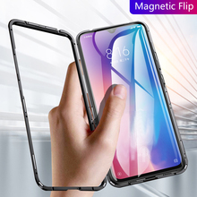 Xiaomi Mi 9 Case Anti-knock Magnetic Cover For Mi9 SE Metal Frame And Tempered Glass Back Business Phone